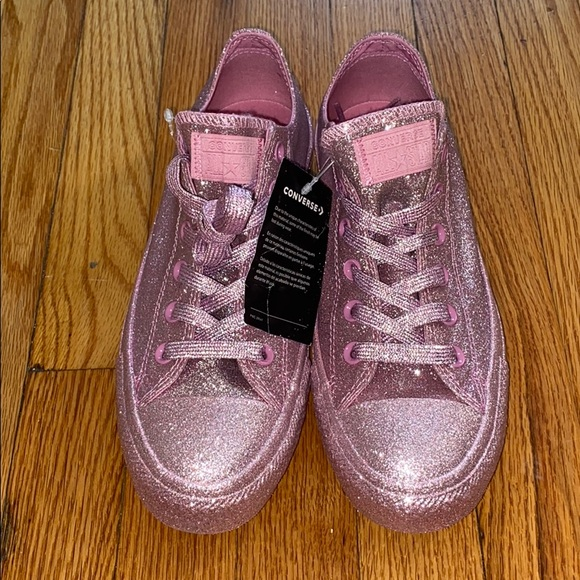 Converse Shoes   Pink Glitter Size 9